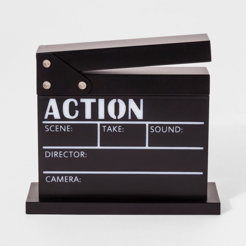 Movie Clapboard Novelty Table Lamp Black - Pillowfort™ - image 1 of 2