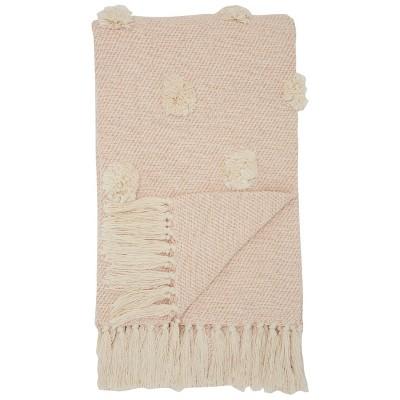 Dot Woven Throw Blanket Blush - Mina Victory