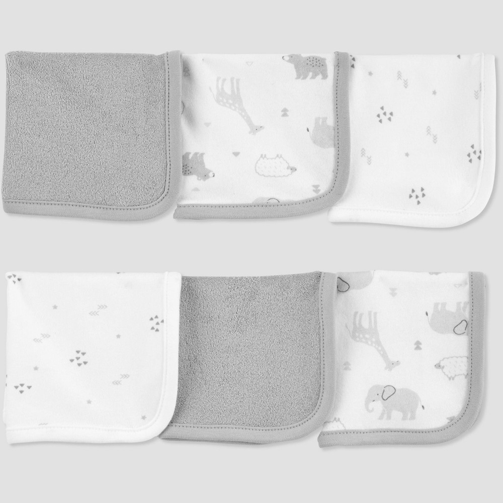 Image of Baby Animals Washcloth Set - Just One You made by carter's Gray
