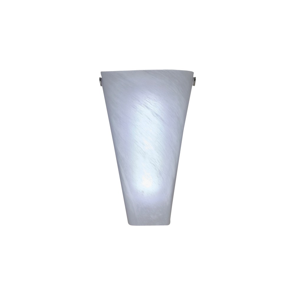 Image of Battery-Operated Frosted Marble Glass Conical Sconce, Multi-Colored