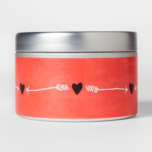 Valentine's Day Tin Candle Cherry Blossom 4.1oz - image 1 of 2