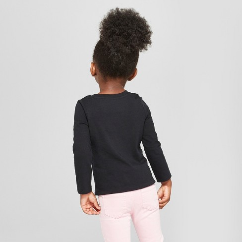 012478dbbd253 Toddler Girls  Long Sleeve T-Shirt - Cat   Jack™ Black   Target