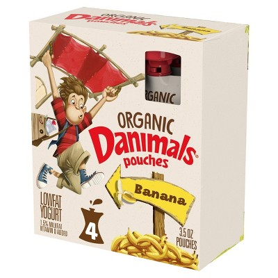 Danimals Organic Banana Kids' Yogurt - 4pk/3.5oz Pouches