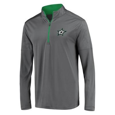 NHL Dallas Stars Men's Defender Embossed 1/4 Zip Sweatshirt - Gray S