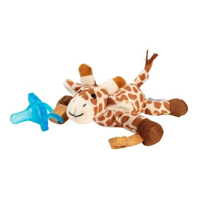 Dr. Brown's Giraffe Lovey with Blue One-Piece Pacifier - Tan