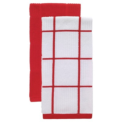 Red Parquet Kitchen Towel 2 Pack (16 x26 )T-Fal