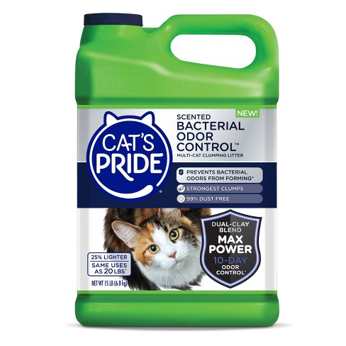 Cat's Pride Bacterial Odor Control Scented Multi-Cat Lightweight Litter -15lb - image 1 of 4