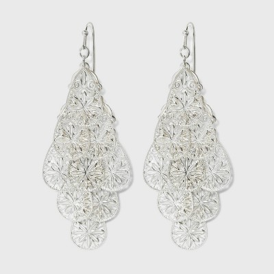 Filigree Kite Earrings - A New Day™ Silver