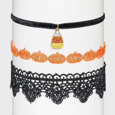 Halloween Choker Velvet Necklace Set - 3pc