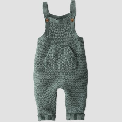Baby Organic Cotton Sweater Overalls - little planet by carter's Green 6M