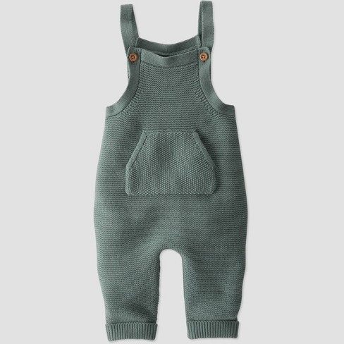 Baby Organic Cotton Sweater Overalls - little planet by carter's Green - image 1 of 3