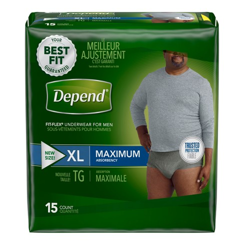 Depend Men's Fit-Flex Convenience Incontinence Underwear XL - image 1 of 4
