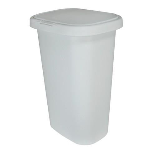 Rubbermaid 13 Gallon Rectangular Spring Top Lid Kitchen Wastebasket Trash Can For Tall Trashbags White Target