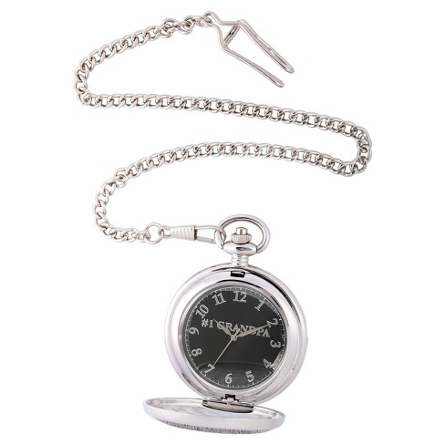 Men's eWatchfactory Family GRANDPA Pocket Watch - Silver - image 1 of 2