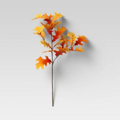 "28"" Artificial Oak Leaf Stem Orange - Threshold™"