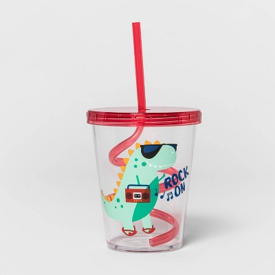 15oz Plastic Tumbler with Swirly Straw - Sun Squad™