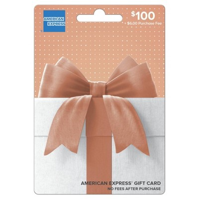 American Express Gift Card - $100 + $6 Fee