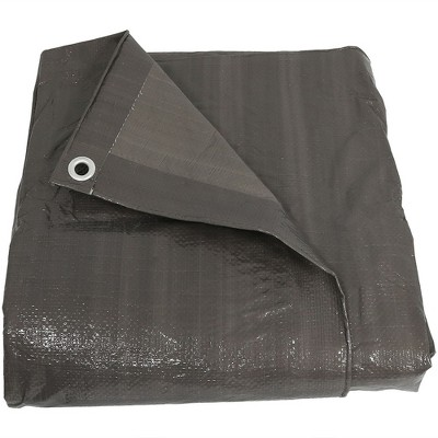 Sunnydaze Decor Waterproof Multi-Purpose Poly Tarp, 6-Feet by 8-Feet  - Dark Gray