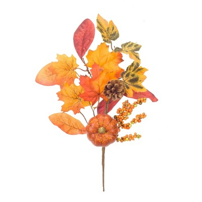 """Artificial Orange Yellow Berry Fall Spray Autumn Harvest Floral Home 36/"""" NEW"""