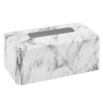 mDesign Modern Metal Tissue Box Cover, Rectangular Holder for Storage