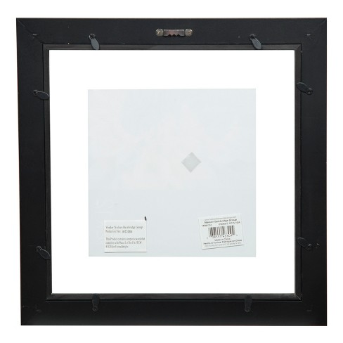 Single Image 12X12 Float To 8X8 Wide Black Frame - Gallery Solutions ...