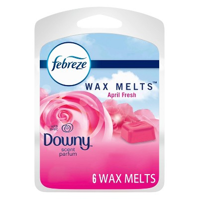 Febreze Odor-Eliminating Wax Melts Air Freshener Refills with Downy Scent - April Fresh - 6ct