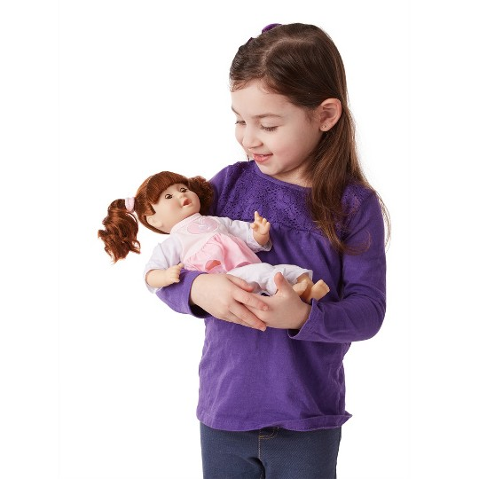 """""""Melissa & Doug Standard Mine to Love Brianna 12"""""""" Soft Body Baby Doll"""" image number null"""