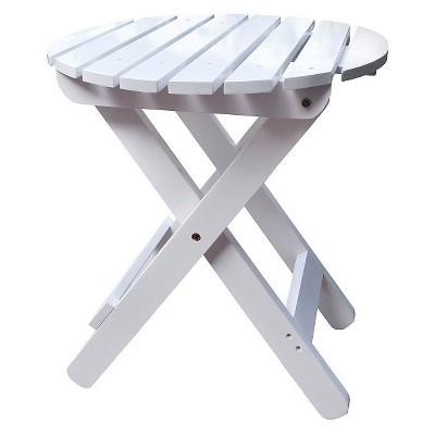 Patio Adirondack Folding Table Wood - Round - Shine Company