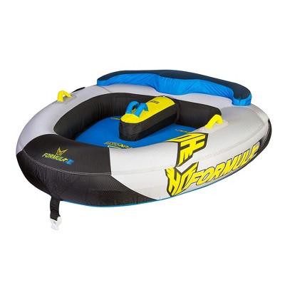 HO Skis 86620000 75 x 73 Inch Formula 2 Sports 2 Person Lake Raft Towable, Blue