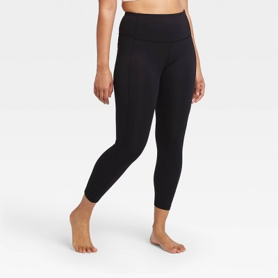 """Women's Contour Power Waist High-Waisted 7/8 Leggings with Stash Pocket 25"""" - All in Motion™"""