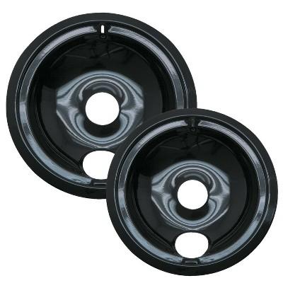 Range Kleen 2pc Porcelain Style B Drip Bowls Black