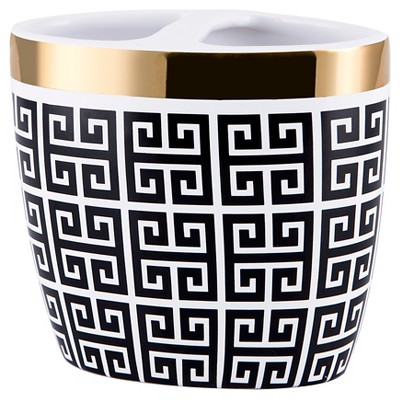 Derby Toothbrush Holder Black/White - Allure Home Creations
