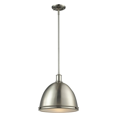 Pendant with Brushed Nickel Glass Ceiling Lights - Z-Lite - image 1 of 1