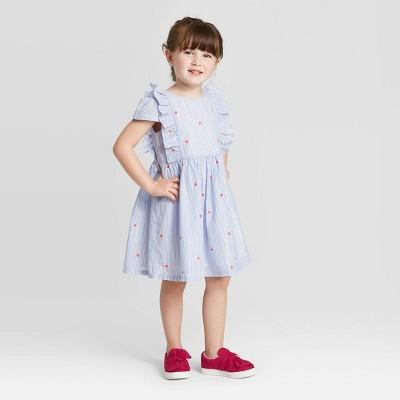 OshKosh B'gosh Toddler Girls' Heart Dress - Blue 2T