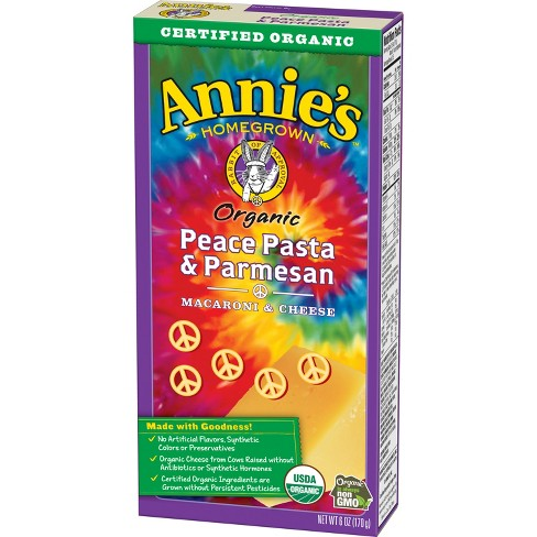 Annie's Peace Pasta & Parmesan Macaroni & Cheese 6 oz - image 1 of 4