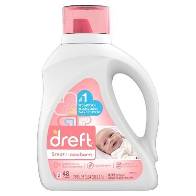 Dreft Stage 1: Newborn Baby Liquid Laundry Detergent - 75 fl oz