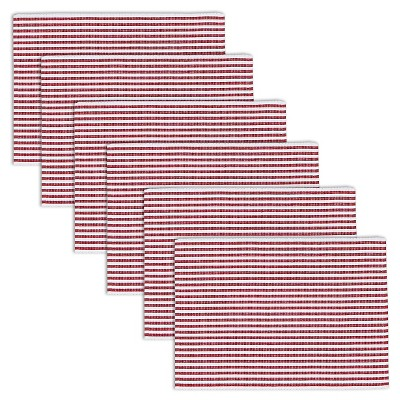Red Peppermint Stripe Placemats (Set Of 6)- Design Imports