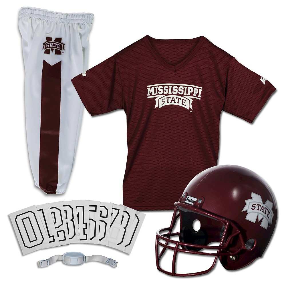 Franklin Sports Team Licensed Mississippi State Bulldogs Deluxe Football Uniform Set, Size: Medium