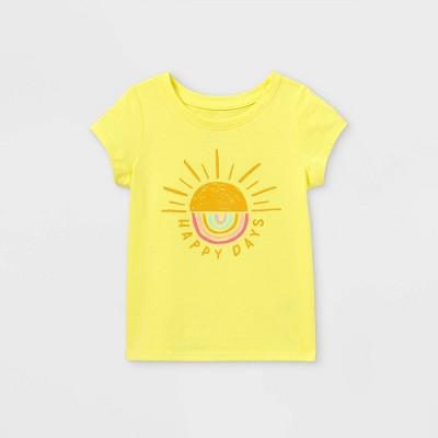 Toddler Girls' 'Happy Days' Short Sleeve T-Shirt - Cat & Jack™ Yellow