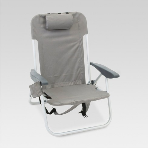 2pk Low Folding Backpack Beach Chair Gray Room Essentials Target