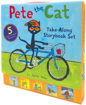 Pete the Cat Take-Along Storybook Set : Construction Destruction / Cavecat Pete / Robo-Pete / Go Pete