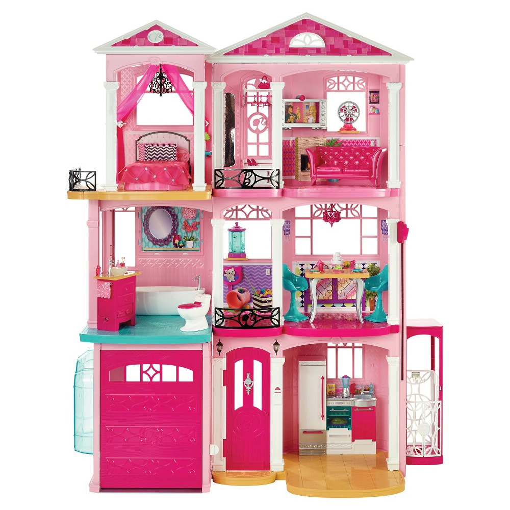 Barbie Dreamhouse, Pink, Doll Playsets