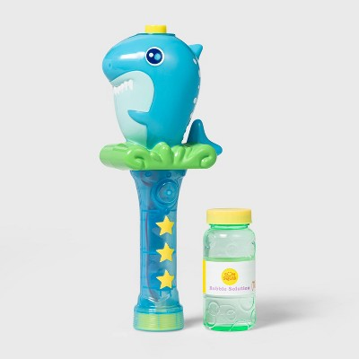 Shark Light-Up Bubble Wand Blue - Sun Squad™