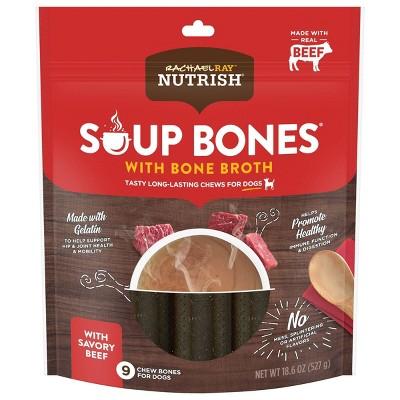 Rachael Ray Soup Bones with Bone Broth Savory Beef Dental Dog Treats - 9ct/18.5oz