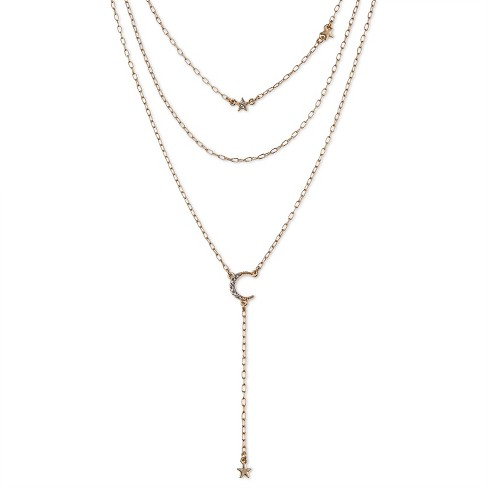 SUGARFIX by BaubleBar™ Celestial Layered Necklace - Gold - image 1 of 2