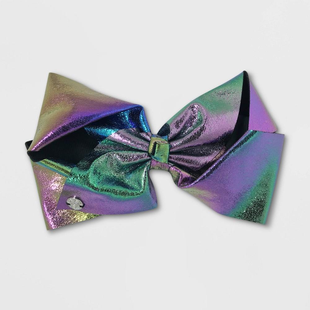 Image of Girls' Nickelodeon JoJo Siwa Metallic Rainbow Bow Hair Clip - Black, Girl's