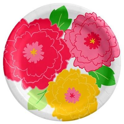 "6.75"" 20ct Floral/Cactus Snack Paper Plates - Spritz™"