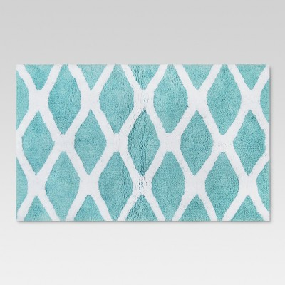 Geo Bath Rug Aqua - Threshold™
