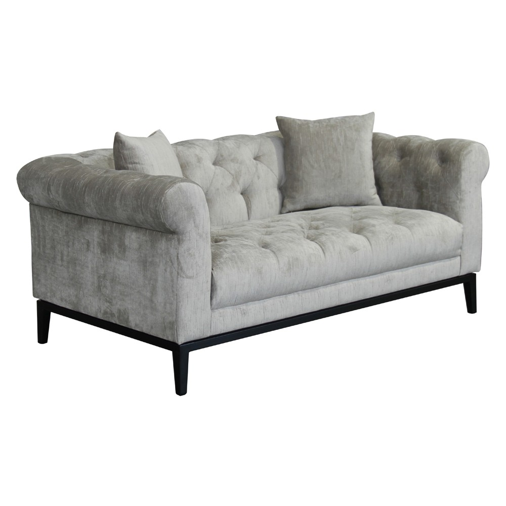 Armen Living Glamour Contemporary Loveseat Beige