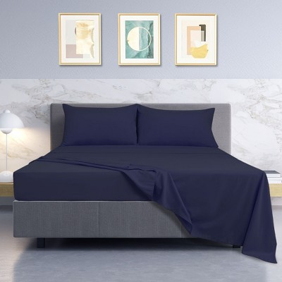 4 Pcs 110gsm Brushed Microfiber Soft Solid Color Bedding Sets  - PiccoCasa